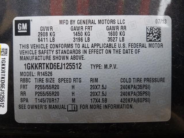 2014 GMC ACADIA DEN 1GKKRTKD6EJ125512