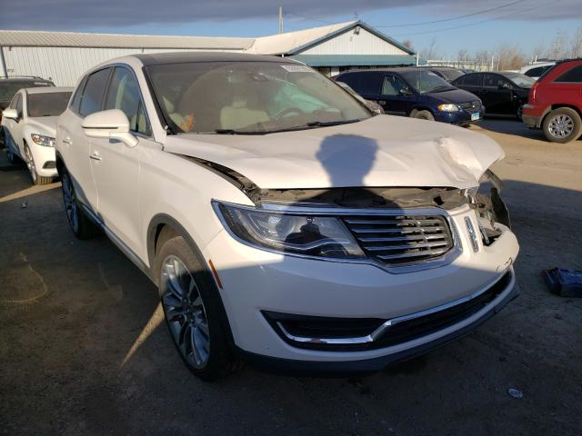 Salvage cars for sale from Copart Pekin, IL: 2017 Lincoln MKX Reserv