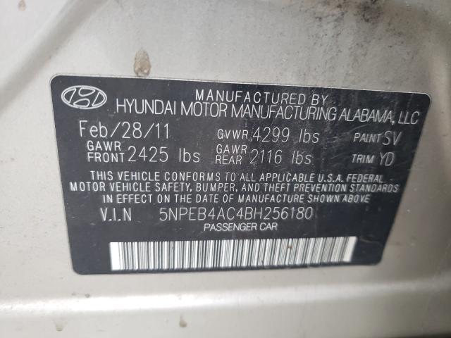 2011 HYUNDAI SONATA GLS 5NPEB4AC4BH256180