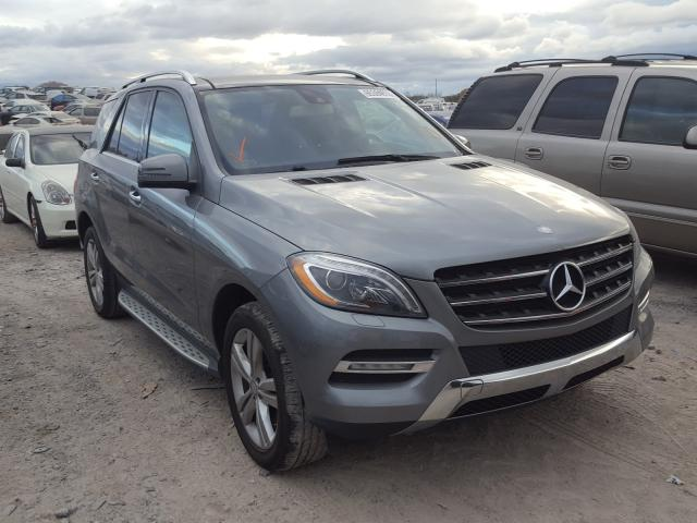 Salvage cars for sale from Copart Madisonville, TN: 2013 Mercedes-Benz ML 350 BLU