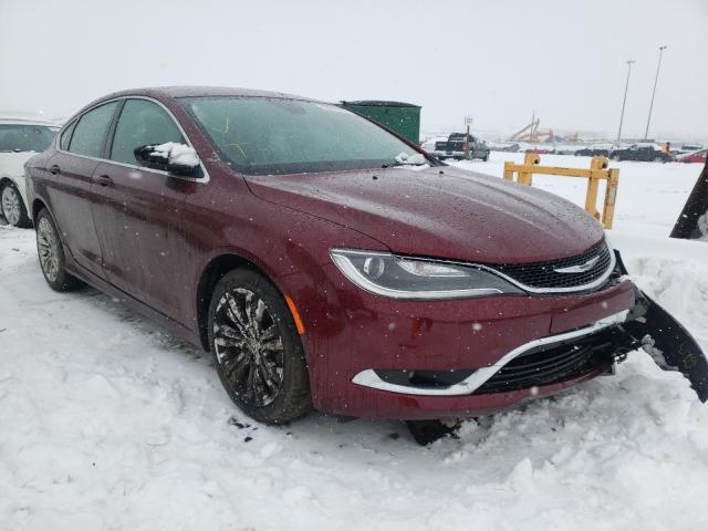 Salvage cars for sale from Copart Nisku, AB: 2015 Chrysler 200 Limited