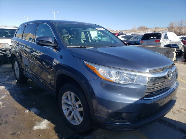Vehiculos salvage en venta de Copart Littleton, CO: 2016 Toyota Highlander