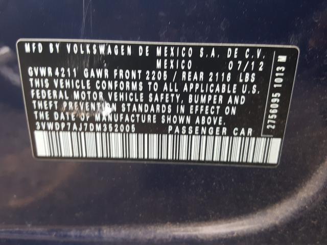 3VWDP7AJ7DM352005 2013 Volkswagen Jetta Se 2.5L