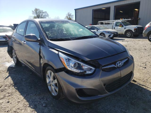 Salvage cars for sale from Copart Sikeston, MO: 2014 Hyundai Accent GLS