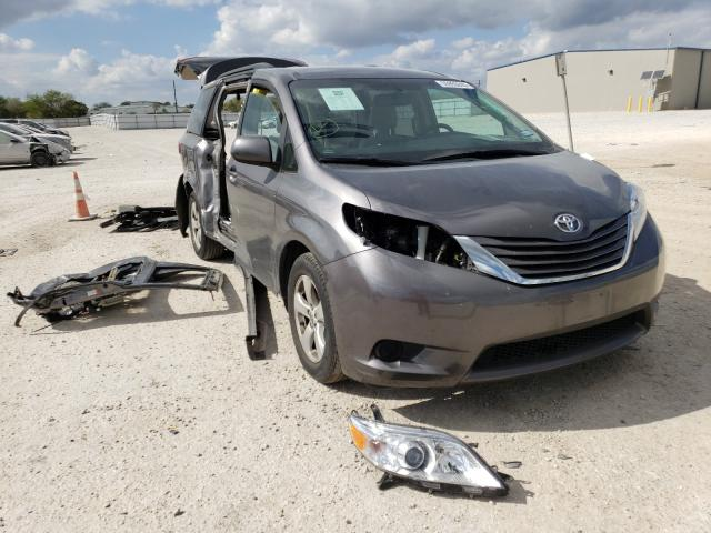 Salvage cars for sale from Copart San Antonio, TX: 2017 Toyota Sienna LE