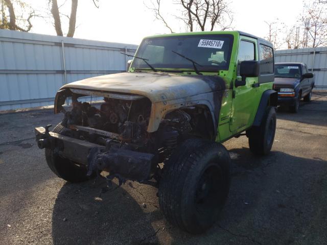 из сша 2013 Jeep Wrangler S 3.6L 1C4AJWAG6DL519736