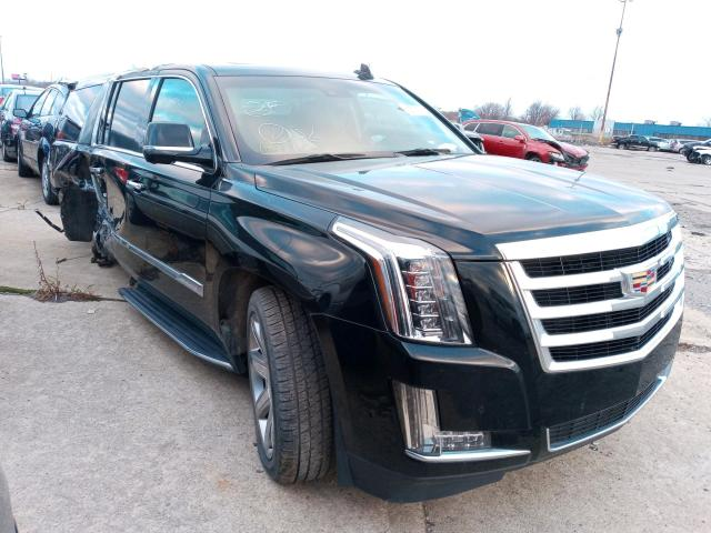 Salvage cars for sale from Copart Woodhaven, MI: 2017 Cadillac Escalade E