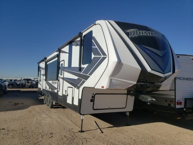 Salvage cars for sale from Copart Amarillo, TX: 2019 Mome 5th Wheel