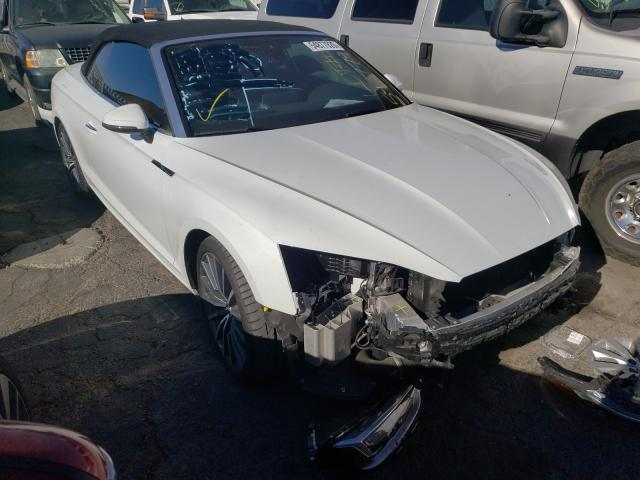 Salvage cars for sale from Copart Colton, CA: 2019 Audi A5 Premium