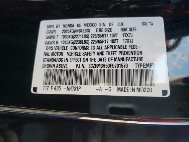 3CZRM3H50FG701570 2015 Honda Cr-V Ex 2.4L