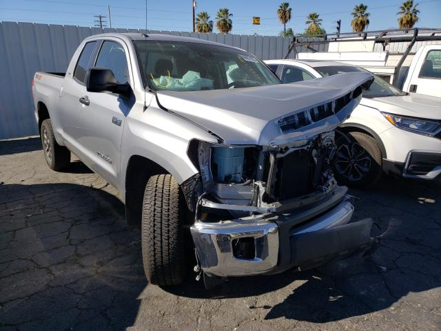 Salvage cars for sale from Copart Colton, CA: 2019 Toyota Tundra DOU