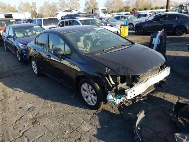 Salvage cars for sale from Copart Colton, CA: 2012 Honda Civic LX
