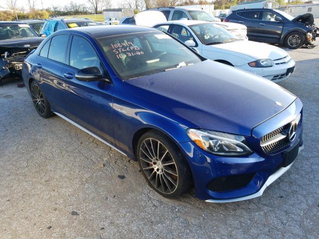 Salvage cars for sale at Bridgeton, MO auction: 2017 Mercedes-Benz C 43 4matic