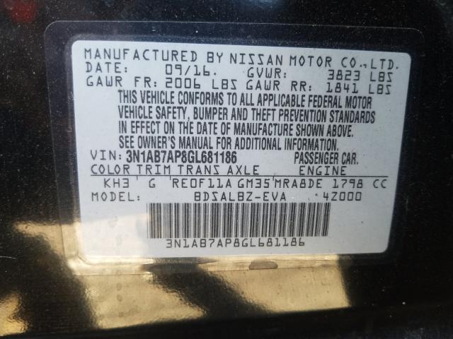 3N1AB7AP8GL681186 2016 Nissan Sentra S 1.8L
