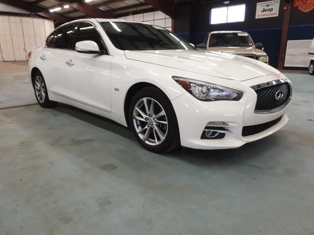 Salvage cars for sale from Copart East Granby, CT: 2017 Infiniti Q50 Premium