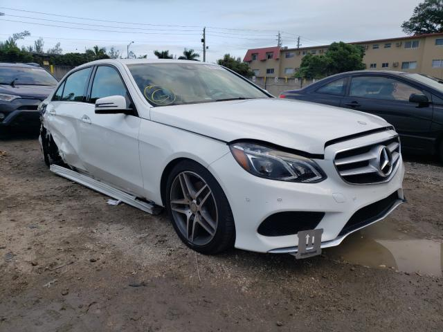Salvage cars for sale from Copart Opa Locka, FL: 2016 Mercedes-Benz E 400 4matic