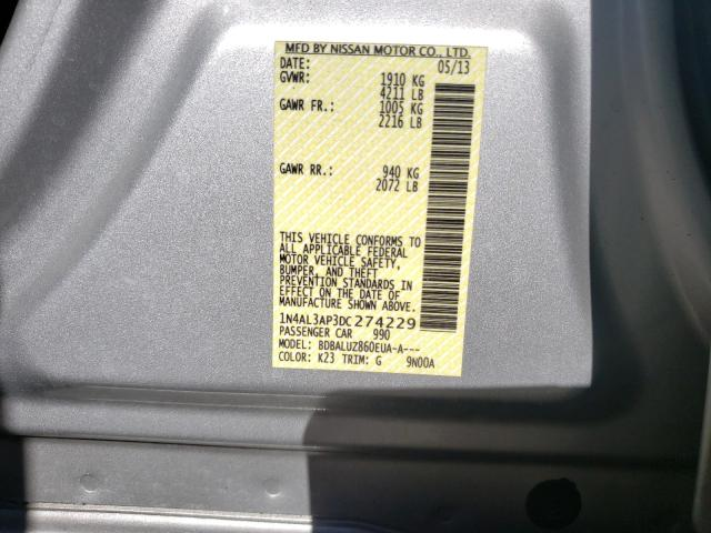 1N4AL3AP3DC274229 2013 Nissan Altima 2.5 2.5L