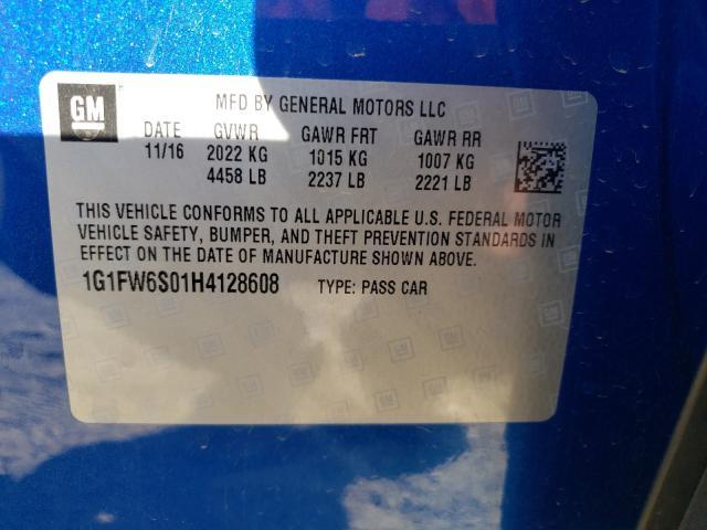 2017 Chevrolet BOLT | Vin: 1G1FW6S01H4128608