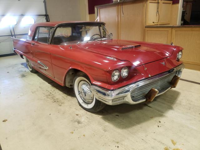 Salvage cars for sale from Copart Exeter, RI: 1959 Ford Thunderbird