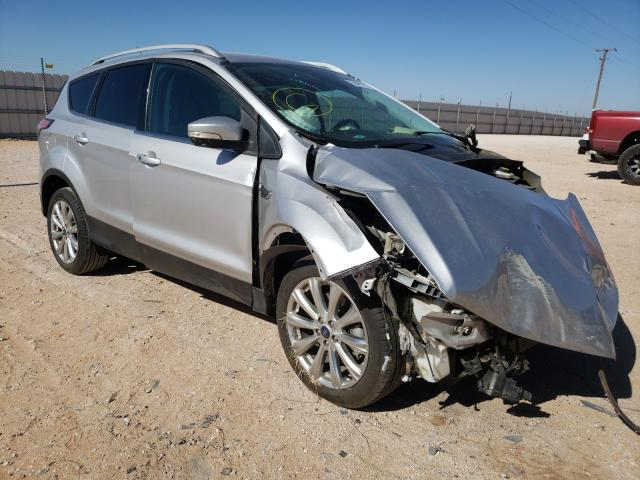 Salvage cars for sale from Copart Andrews, TX: 2017 Ford Escape Titanium