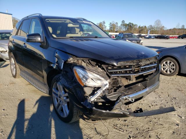 Salvage cars for sale at Spartanburg, SC auction: 2015 Mercedes-Benz ML 350 4matic