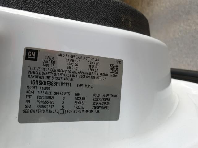 2011 CHEVROLET SUBURBAN K 1GNSKKE38BR191111