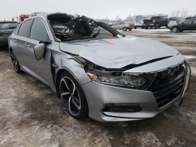 Vehiculos salvage en venta de Copart Rocky View County, AB: 2018 Honda Accord Sport