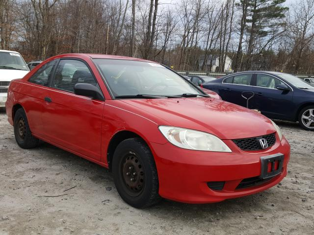 Honda Civic DX V salvage cars for sale: 2004 Honda Civic DX V