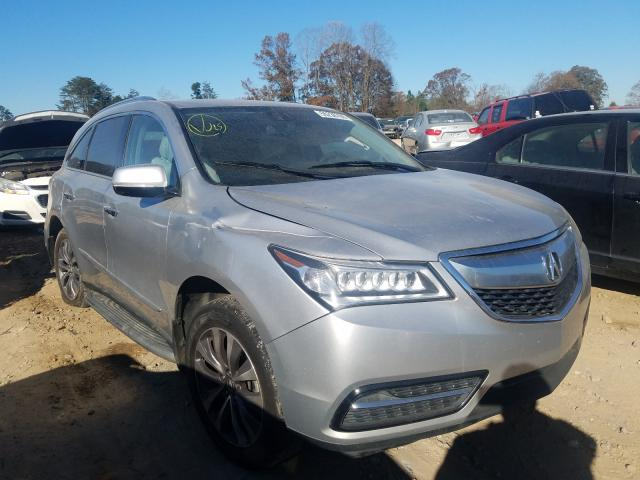 Salvage cars for sale from Copart China Grove, NC: 2015 Acura MDX Techno