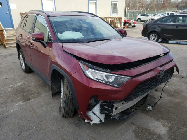 Salvage cars for sale from Copart Duryea, PA: 2019 Toyota Rav4 XLE