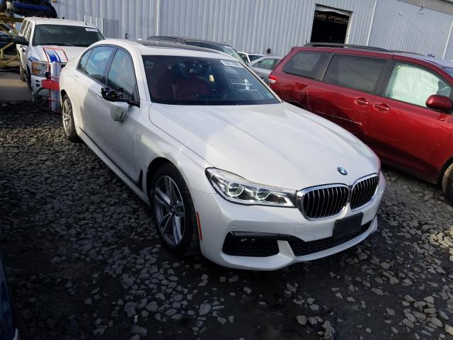 BMW salvage cars for sale: 2018 BMW 750 XI