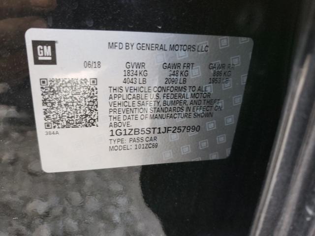 2018 CHEVROLET MALIBU LS 1G1ZB5ST1JF257990