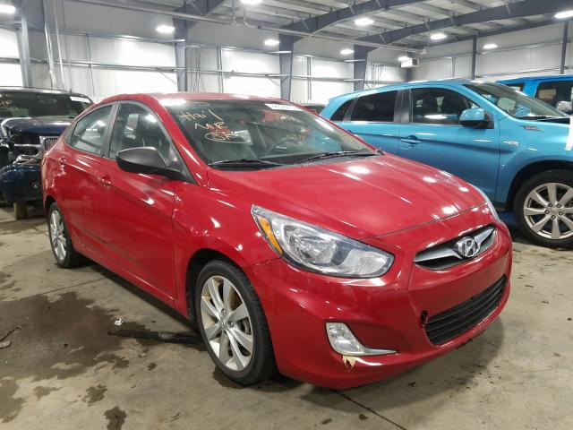 Salvage cars for sale from Copart Ham Lake, MN: 2013 Hyundai Accent GLS