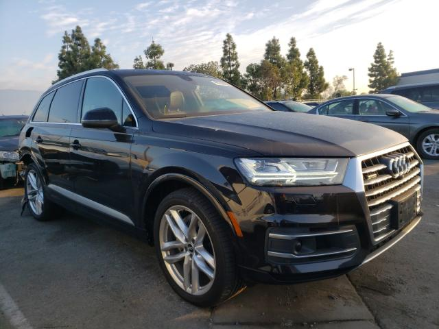 Salvage cars for sale from Copart Rancho Cucamonga, CA: 2018 Audi Q7 Prestige