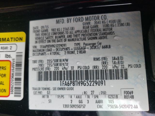 1FA6P8TH9G5229091 2016 Ford Mustang 2.3L