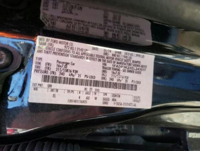 1FADP3K2XEL243937 2014 Ford Focus Se 2.0L