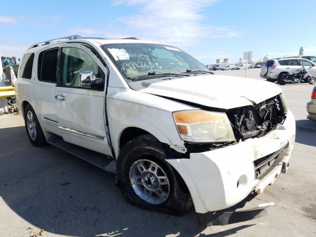Salvage cars for sale from Copart New Orleans, LA: 2012 Nissan Armada SV