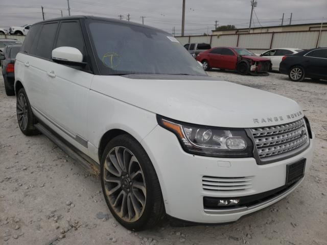 Salvage cars for sale from Copart Haslet, TX: 2016 Land Rover Range Rover