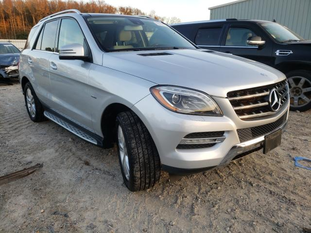 Salvage cars for sale from Copart Hampton, VA: 2012 Mercedes-Benz ML 350 4matic