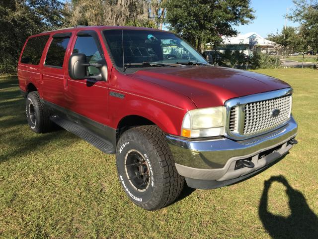Ford Excursion salvage cars for sale: 2002 Ford Excursion