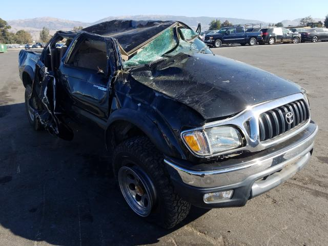 Salvage cars for sale from Copart San Martin, CA: 2004 Toyota Tacoma DOU