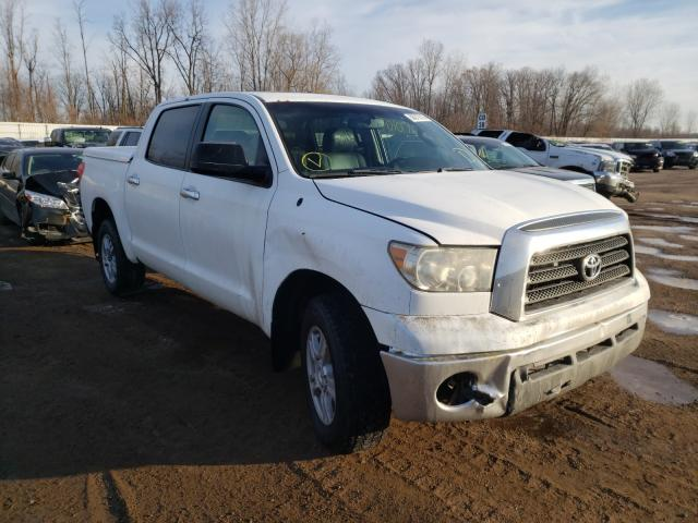 Salvage cars for sale from Copart Davison, MI: 2007 Toyota Tundra CRE