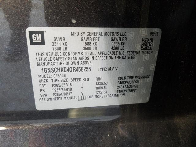 1GNSCHKC4GR458255 2016 Chevrolet Suburban C 5.3L
