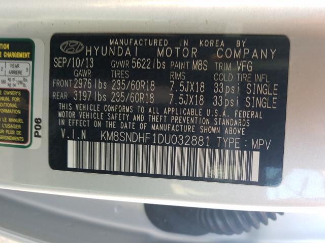 KM8SNDHF1DU032881 2013 Hyundai Santa Fe G 3.3L