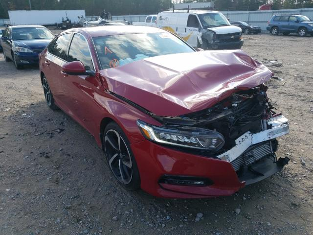 Salvage cars for sale from Copart Charles City, VA: 2019 Honda Accord Sport