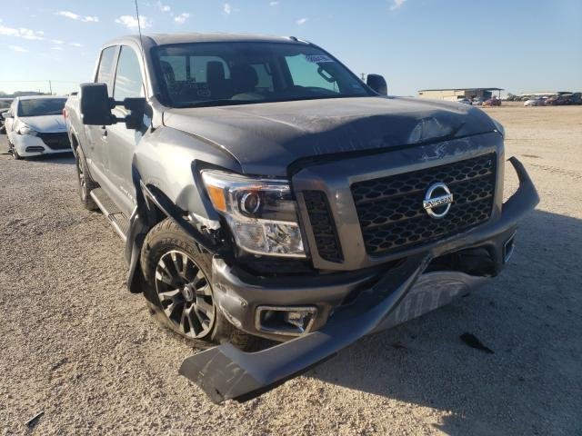 Salvage cars for sale from Copart San Antonio, TX: 2018 Nissan Titan SV