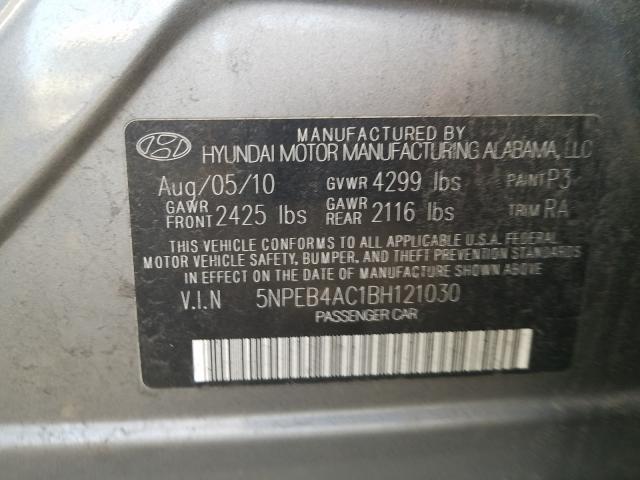 2011 HYUNDAI SONATA GLS 5NPEB4AC1BH121030