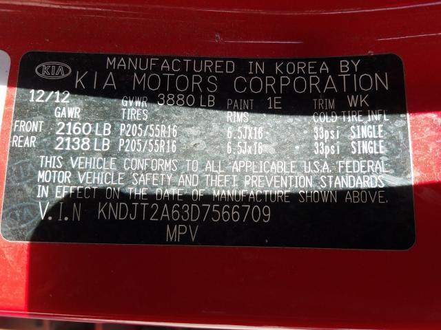 KNDJT2A63D7566709 2013 Kia Soul + 2.0L