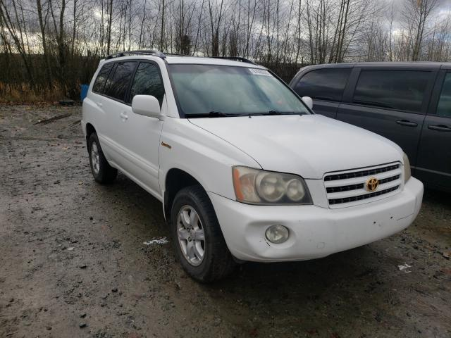 Salvage cars for sale from Copart Arlington, WA: 2001 Toyota Highlander