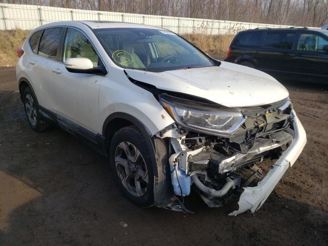 Salvage cars for sale from Copart Davison, MI: 2017 Honda CR-V EX